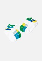 STYLE REPUBLIC - Stripe 3 pack anklet socks - multi