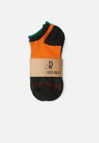 STYLE REPUBLIC - Plain 2 pack anklet socks - multi