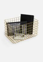 Sixth Floor - Finch wire basket - gold