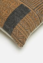 Sixth Floor - Pathara cushion cover - mustard