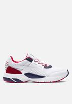 PUMA - Future Runner Premium - Puma White-Peacoat-High Risk Red