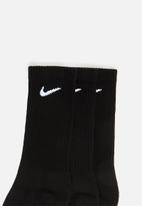 Nike - Nike everyday cushion crew - black & white