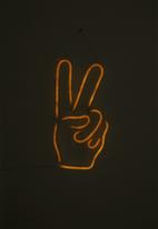 Typo - Large led wall light - peace hand