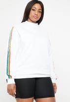 STYLE REPUBLIC PLUS - Rainbow sweater - white