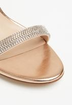 ALDO - Rhinestone embellished heel - rose gold