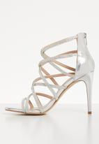ALDO - Rhinestone heel - silver