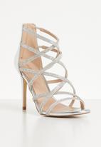 ALDO - Rhinestone embellished criss-cross stiletto heel - silver