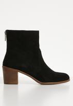 ALDO - Astima suede ankle boot - black