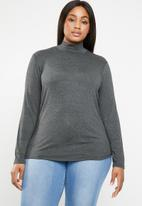 STYLE REPUBLIC PLUS - Turtle neck top - grey