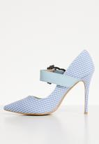 Miss Black - Karabo heel - blue/white