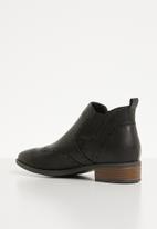 Jada - Brogue chelsea boot - black