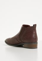 Jada - Brogue chelsea boot - burgundy