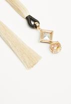 ALDO - Ybigossi earrings - white & black