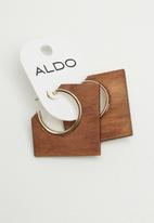ALDO - Adrarwen earrings - brown