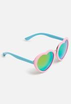 POP CANDY - Heart frame sunglasses - pink & blue