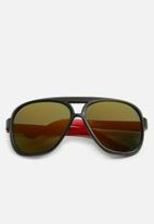 POP CANDY - Oversized sunglasses - black & red