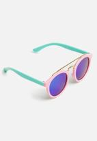 POP CANDY - Round sunglasses - pink & turquoise
