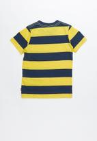 Levi's® - Pre-boys stripe knit T-shirt - navy & yellow