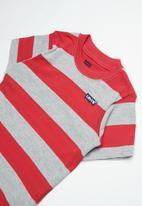 Levi's® - Pre-boys stripe knit T-shirt - grey & red