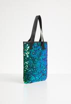 POP CANDY - Sequin tote bag - green & blue