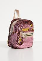 POP CANDY - Sequin backpack - dark pink