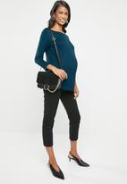 edit Maternity - Maternity boat neck top - blue