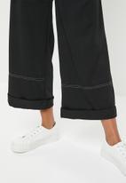 edit Maternity - Maternity stitch detail utility pants - black