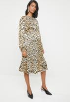 edit Maternity - Maternity tier smart dress - multi