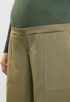 edit Maternity - Maternity Stitch detail utility pants - khaki