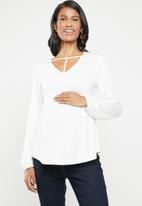 edit Maternity - T-detail blouse - white