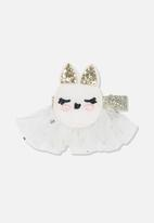 Cotton On -  Bunny hair clip - white