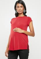 edit Maternity - Printed tee - red