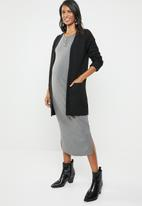 edit Maternity - Button down ribbed dress - grey