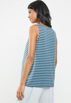 edit Maternity - Basic tank top - blue & white