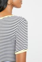edit Maternity - Maternity pocket T-shirt - navy & white