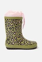 Cotton On - Classic golly animal print boots - multi
