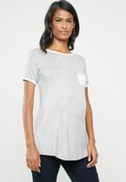 edit Maternity - Maternity pocket T-shirt - grey