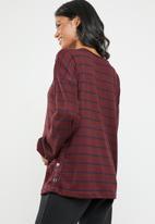 edit Maternity - Maternity studded jersey - burgundy