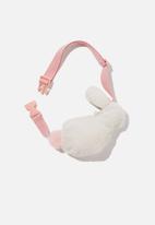 Cotton On - Fashion belt bunny bag - pink & white