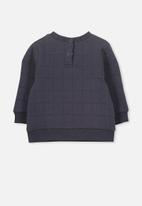 Cotton On - Scout quilted sweater - navy
