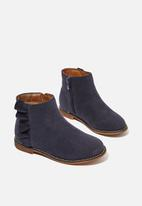Cotton On - Ruffle ankle boot - navy