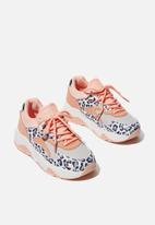 Cotton On - Chunky leopard lace up trainer - multi