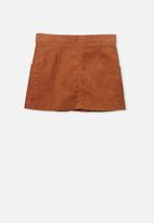 Cotton On - Rose cord skirt - brown