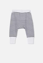 Cotton On - Charlie striped trackpant - black & white
