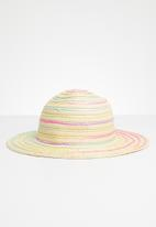 POP CANDY - Straw fedora hats - multi