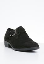 Butterfly Feet - Faux suede brogue - black