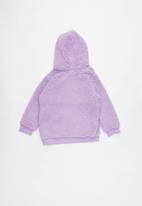 Cotton On - Talita teddy hooded fleece - purple