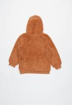 Cotton On - Talita teddy hooded fleece - brown