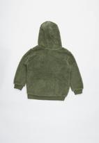 Cotton On - Teddy hooded fleece - green