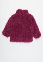 Cotton On - Tash teddy slouch jacket - purple